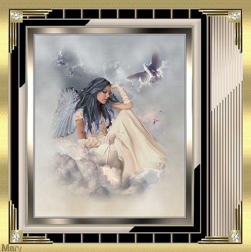 Un ange sur les nuages