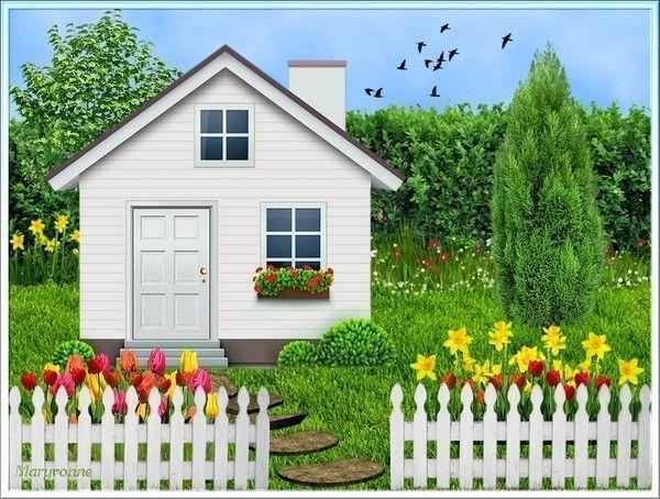 La petite maison blanche en scrap
