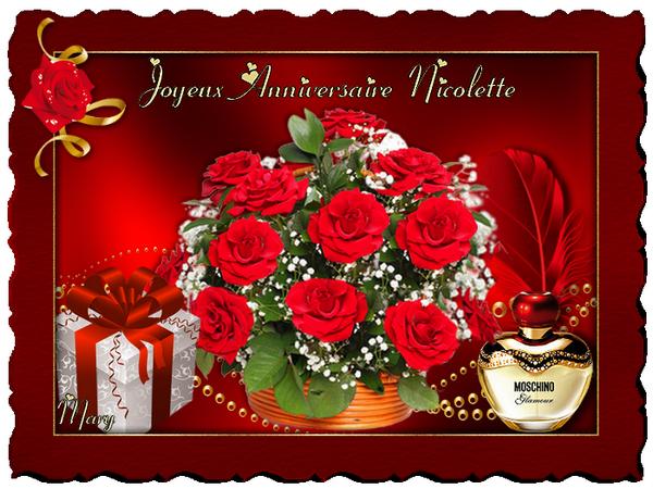 Joyeux Anniversaire Nicolette Joyeux Anniversaire Niclette