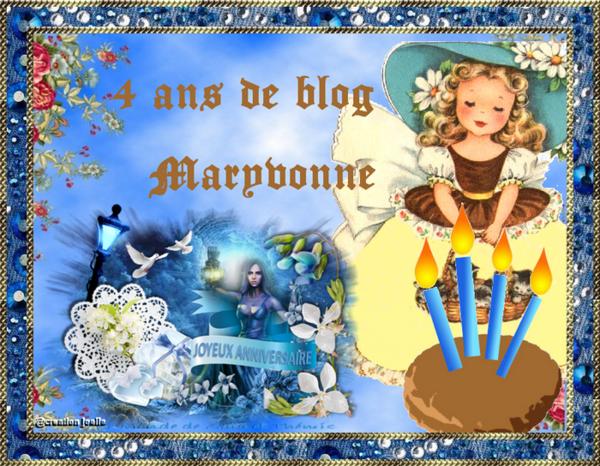 kdo pour les 4 ans de blog de mon amie Maryvonne